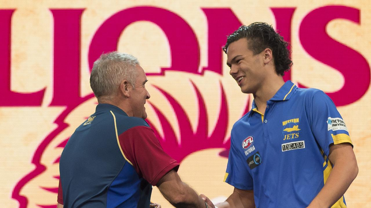 Coach Chris Fagan welcomes No. 1 draft pick Cam Rayner to Brisbane in 2017.
