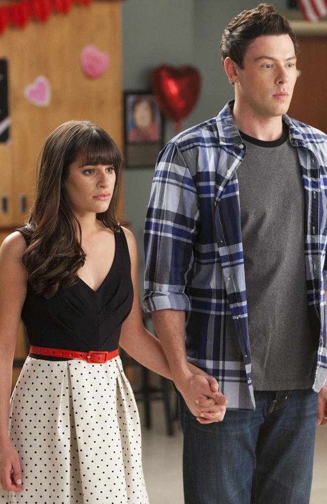 Finn and Rachel. Picture: AP/Fox, Adam Rose