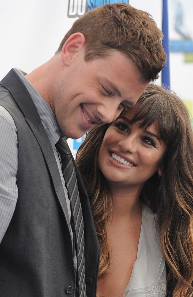 Cory Monteith and Lea Michele at the 2012 Do Something awards. Picture: Jordan Strauss/Invision/AP