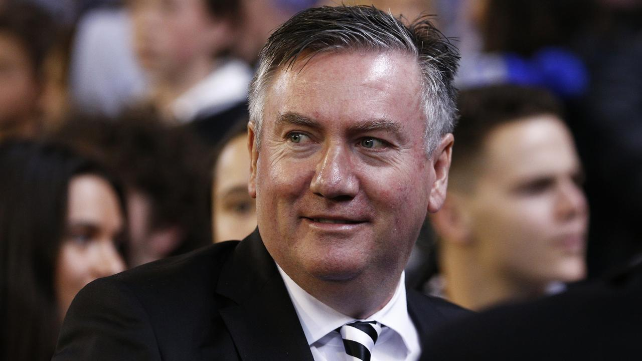 Magpies president Eddie McGuire has linked drug use at the football to a rise in crowd violence. Picture: AAP Image/Daniel Pockett.