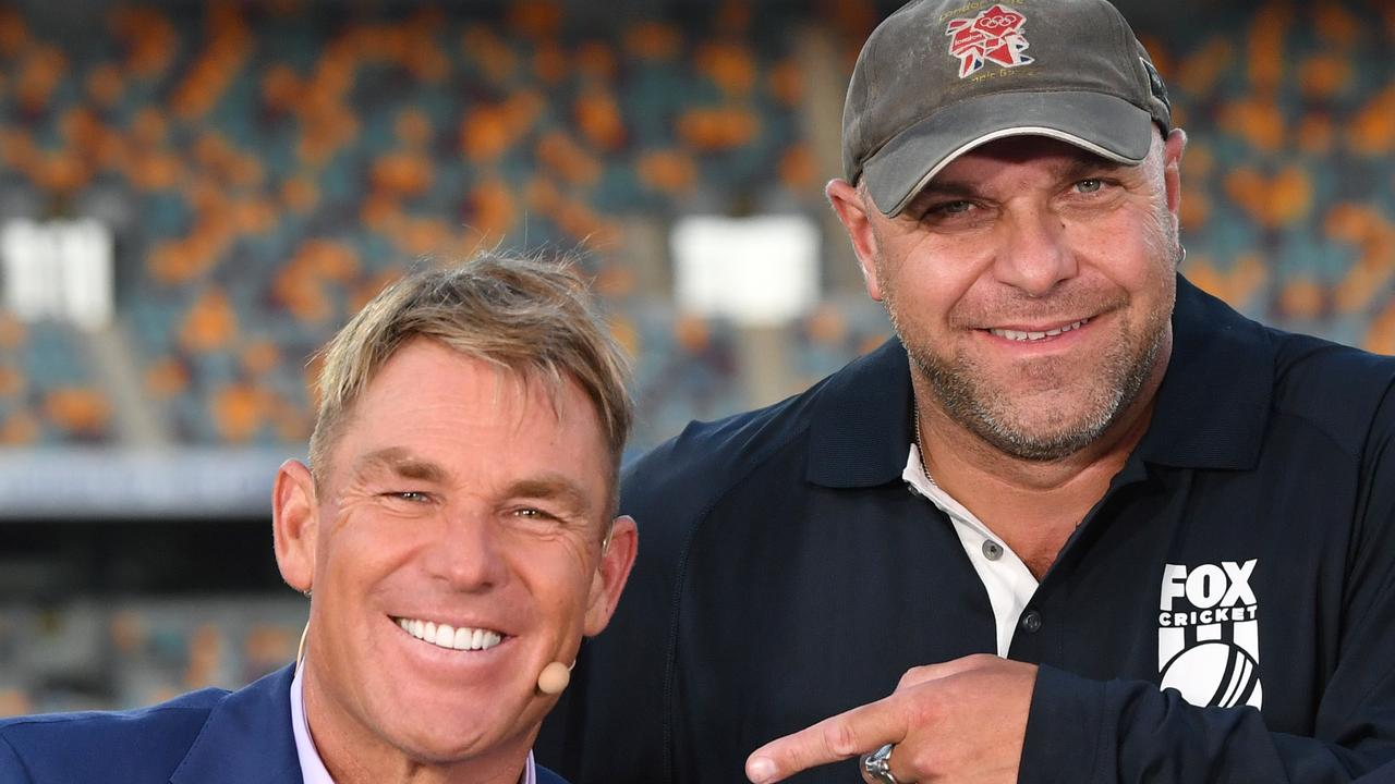 Shane Warne and Joe 'The Cameraman' Previtera 20 years after the infamous remark.