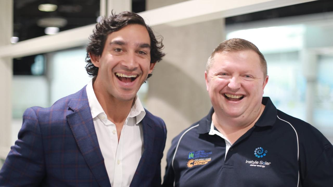 Instyle Solar has struck a deal with NRL legend Johnathan Thurston. Picture: Facebook/Karl Brown