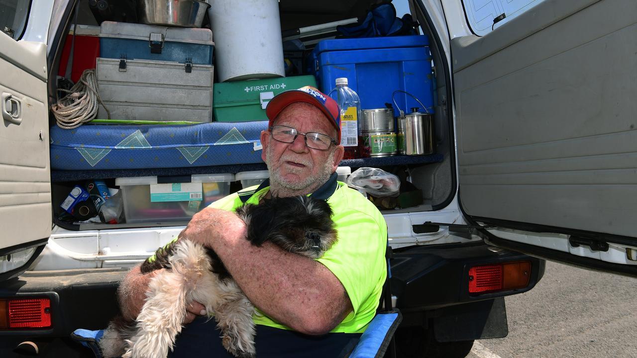 Homeless man Bill Betheras with Dog.