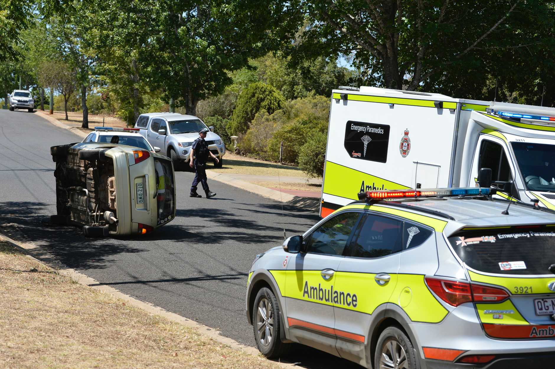This car rolled over in Wilsonton Heights just after before 1pm on November 25.