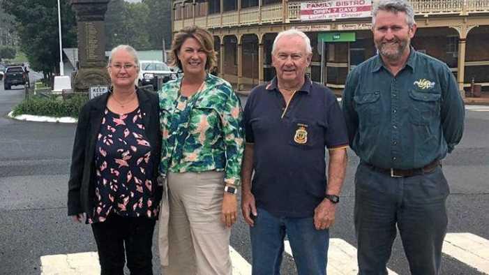FESTIVE FRIENDS: Patsy Green (far left) during her time as Dorrigo Chamber of Commerce president.
