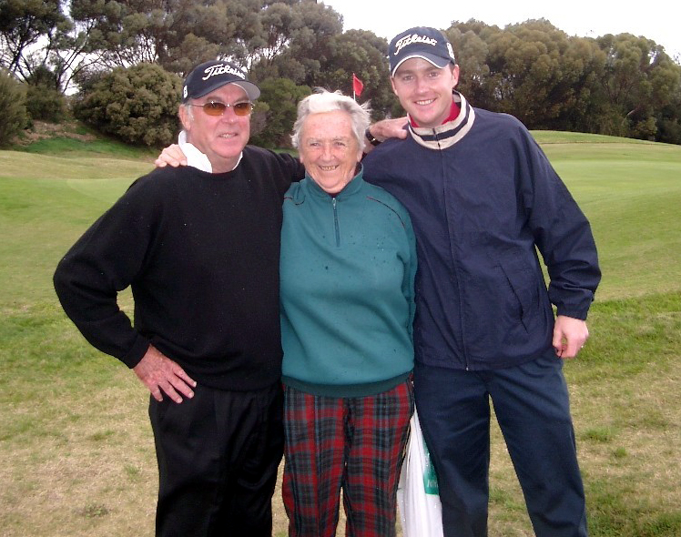 Rhonda with Bob Tuohy and Ben Tuohy.