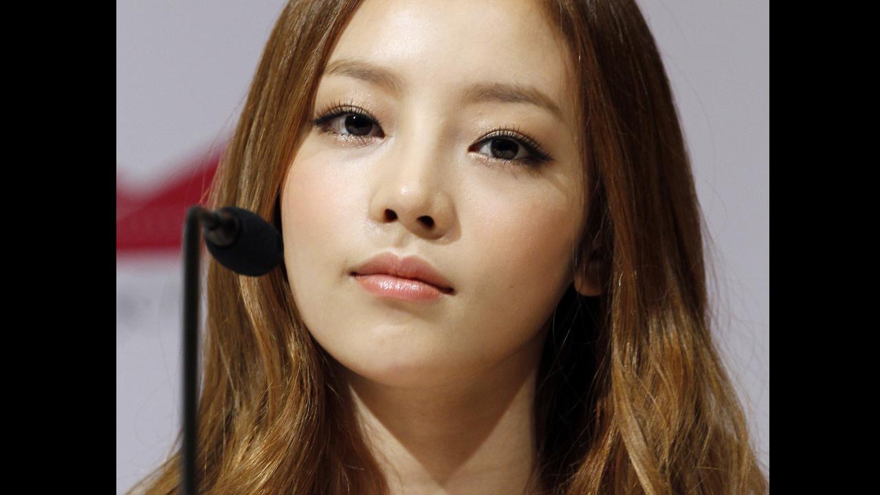 South Korea's pop girl group KARA's Goo Hara. Picture: AP/Wong Maye-E, File