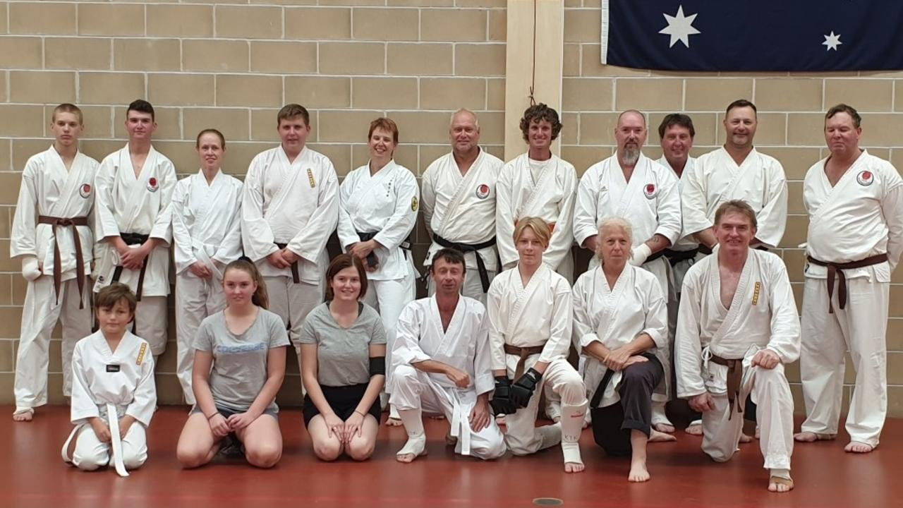 GRADING DAY: Instructors and students from all three clubs in Nanango on Saturday, November 23. (Photo: Contributed)