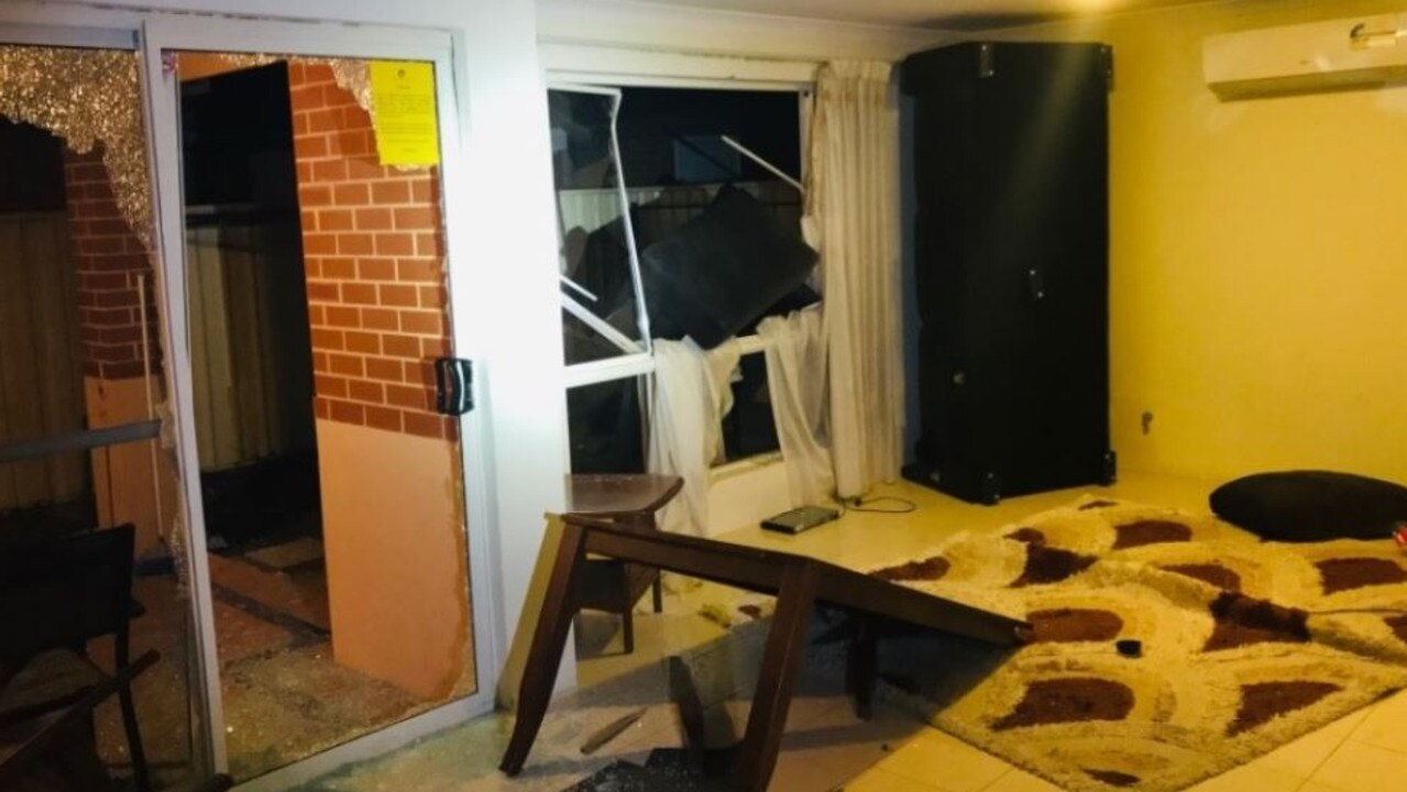 Police are hunting a group of people who trashed an Airbnb rental in Perth — including smashing all windows. Picture: Western Australia Police Force