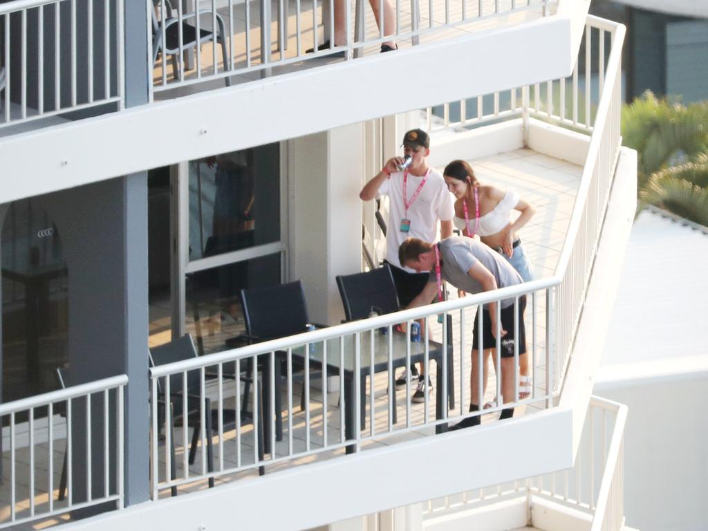 Hotels have very strict rules about how to behave on the balcony. Picture: Nigel Hallett