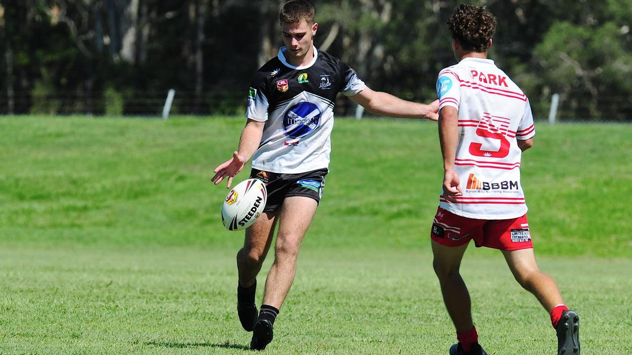 Lower Clarence Magpies youngster Cooper Many. Photo: Sport-in-digital