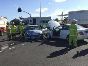 Three injured in Ashfield two-car crash