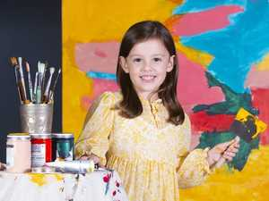 Meet Claudia, the 4YO artist making a big impression