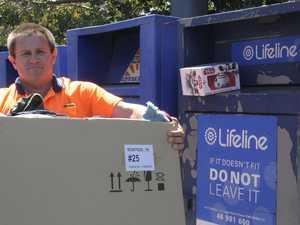 High price for charity bin dump and run in Toowoomba