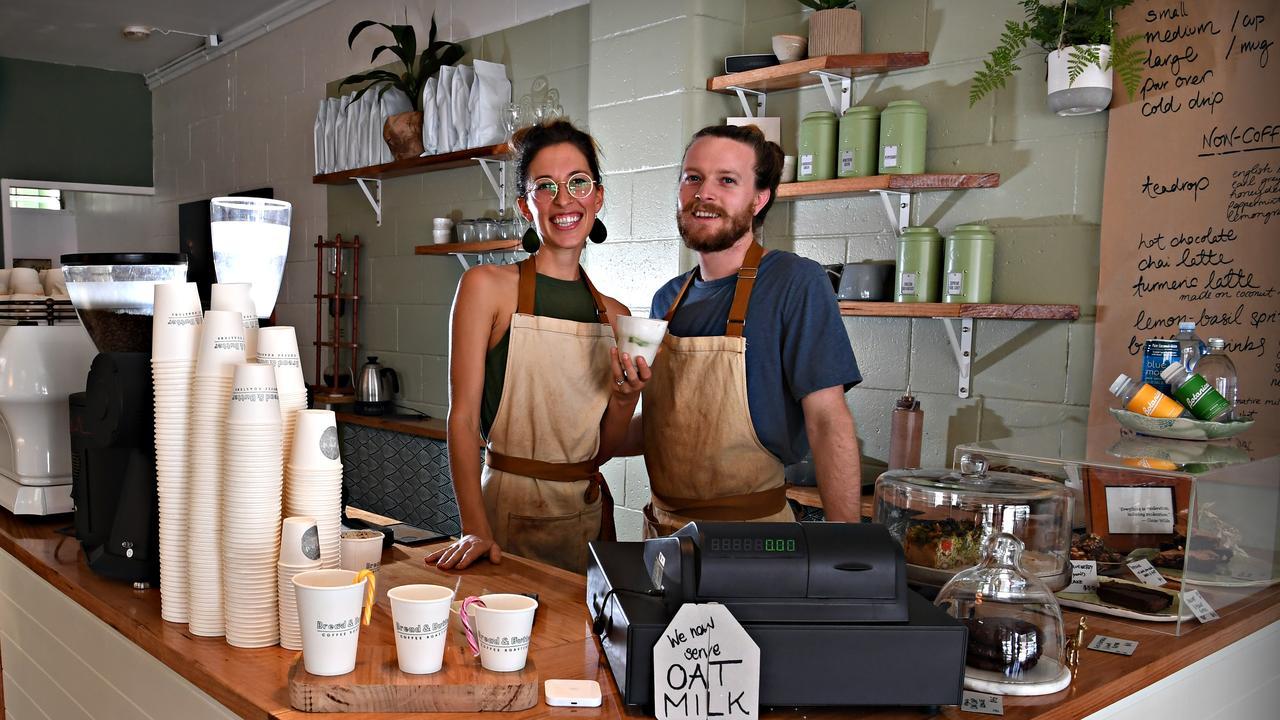 Elliot Gwynne and Daniela May love serving the locals at Wynd Espresso Bar.