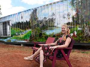 Artist's landscape brings colour to drought