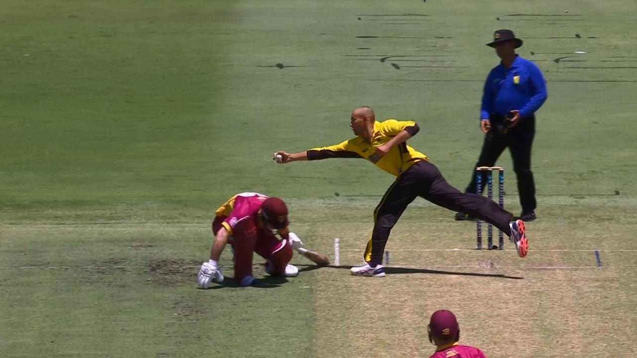 Ashton Agar takes a screamer in the Marsh Cup Final.