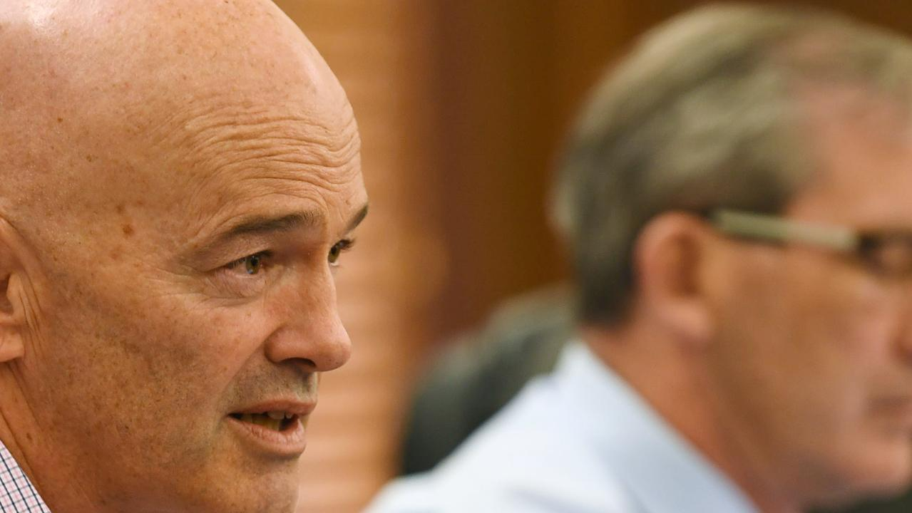 Gympie council's CEO Bernard Smith and mayor Mick Curran maintain they can return to an operating surplus with savings – but that's a big ask following an $11 million deficit.