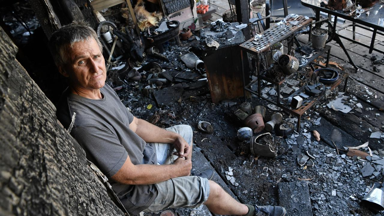 SCORCHED: Eudlo resident Timothy Kirkwood had his Eudlo house destroyed by fire. Photo: Patrick Woods