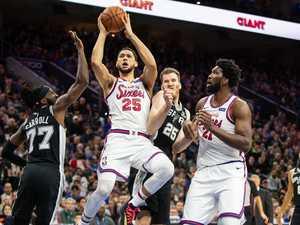 Simmons' ludicrous three-point brain fade