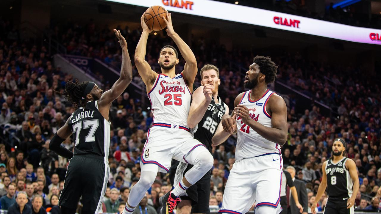 Ben Simmons attmpted his second three-pointer of the season on Tuesday.