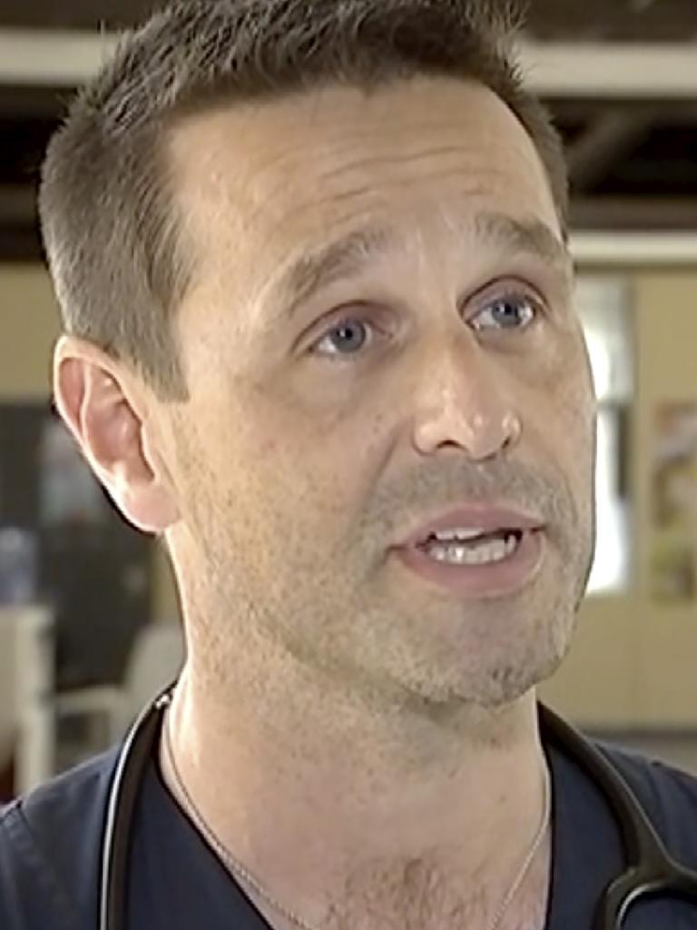 NZ Dr Scott Wilson at vaccination clinic. Picture: Newshub