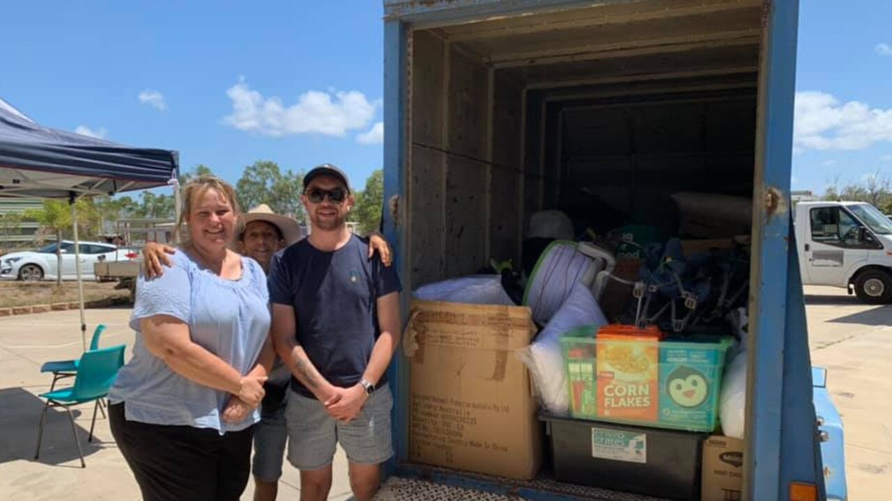 HELPING HAND: Food Relief workers thank Jose Ormond and the Emerald community for their donations.