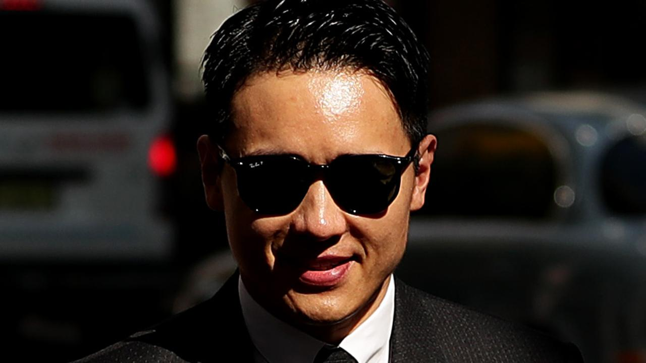 Chinese actor Yunxiang Gao arrives at a Sydney court. Picture: Getty