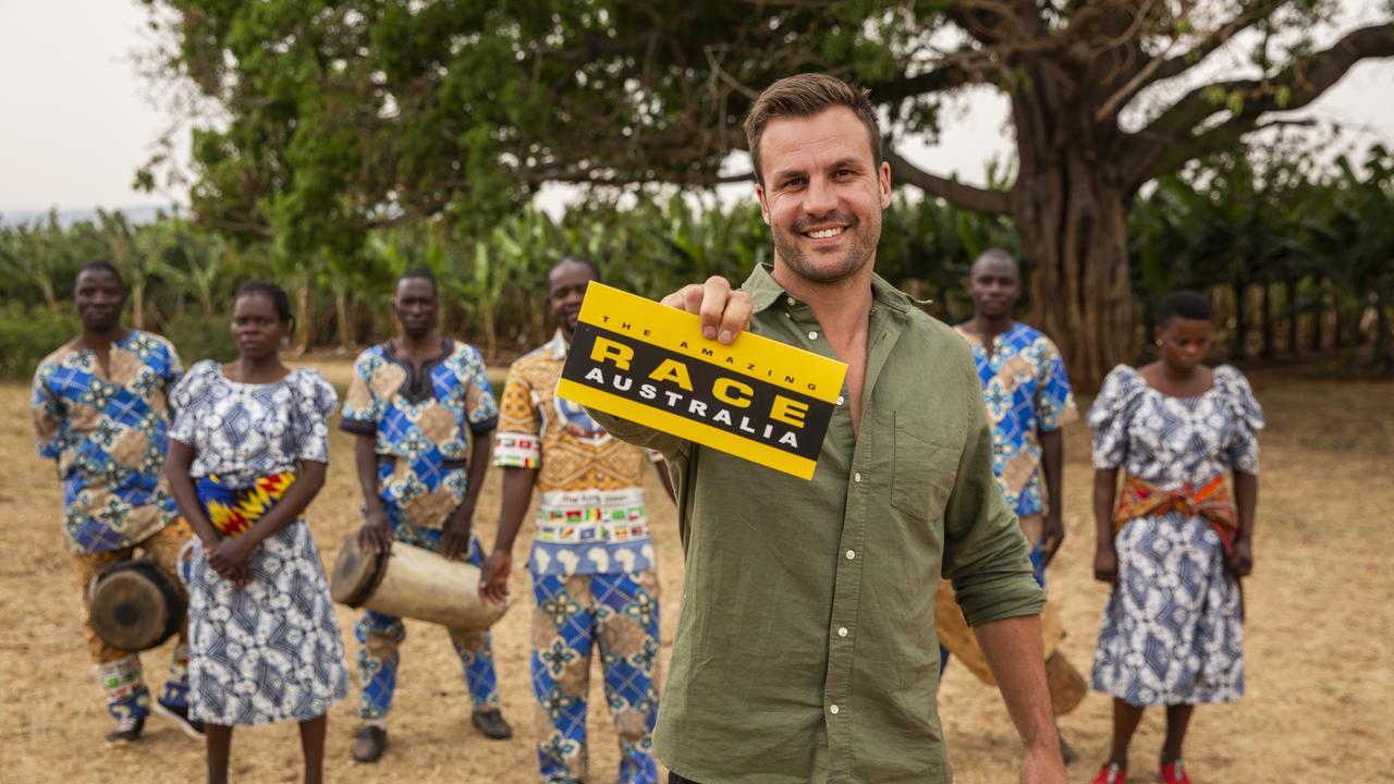 Beau Ryan films The Amazing Race - Australia in Malawi. Source: Network 10