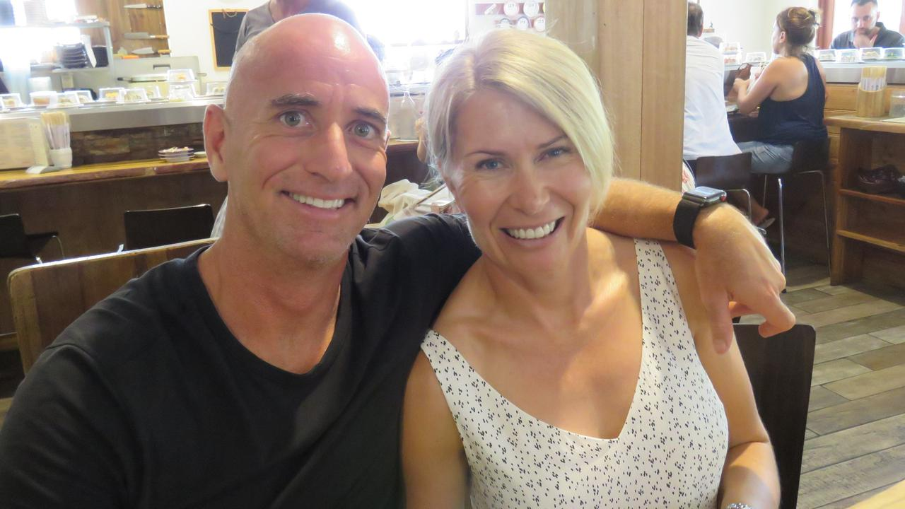 Tim and Maggie McGary pictured at an early Valentine's lunch at Sushi Yah-Man in the Noosa Junction earlier this year. A company of which Mr McGary was a co-director with Kevin Perry has gone into administration with creditors owed a total of $15 million.