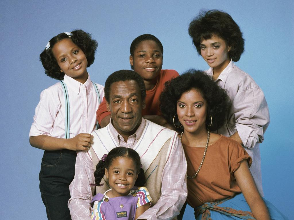 Bill Cosby with his TV show family. Picture: NBCU Photo Bank