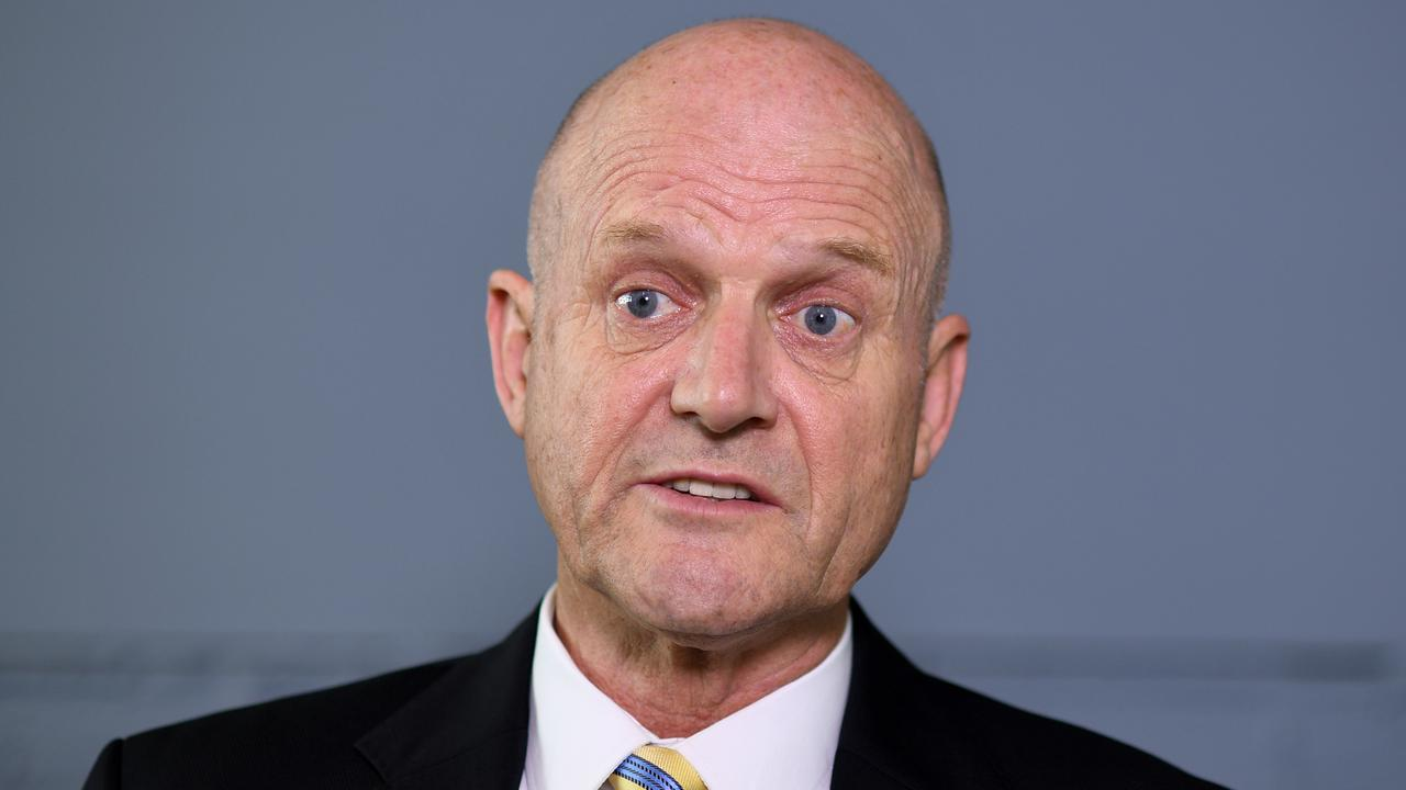 "David Leyonhjelm was sued for comments he made after he said ""stop shagging men"". Picture: AAP Image/Joel Carrett"