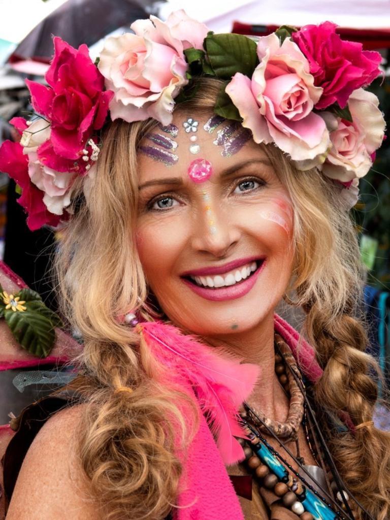 MAGIC: Eumundi Markets' iconic Indian Fairy, Debbie Bronson.