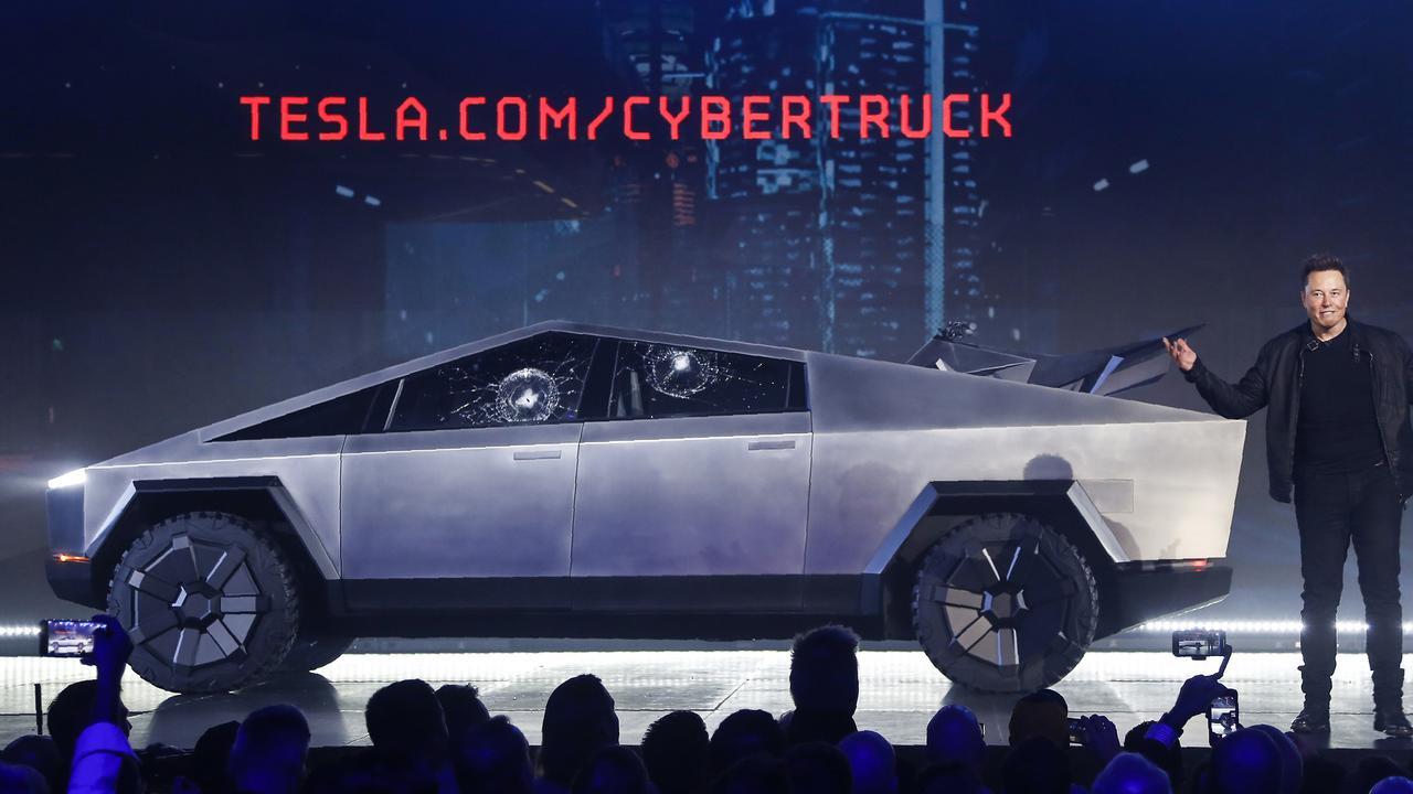 Elon Musk unveils the futuristic Tesla Cybertruck ute.
