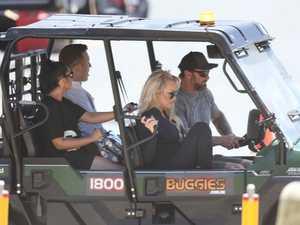 Pamela Anderson hits beach on Gold Coast