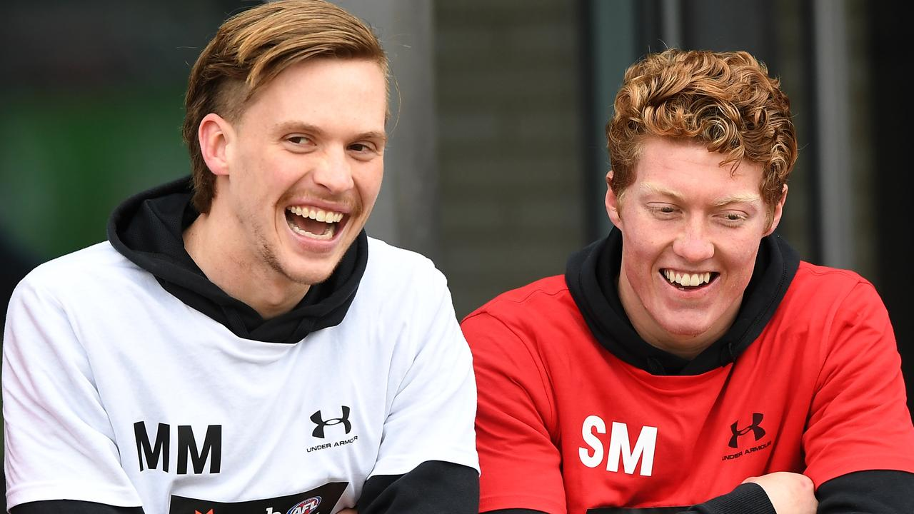 Noah Anderson (left) and Matt Rowell will be taken with picks one and two in the draft. Picture: AAP Images