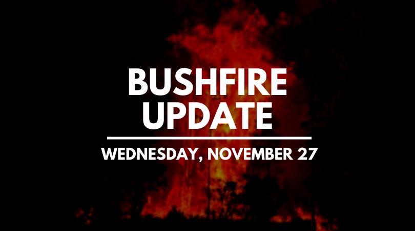 November 27 fire update