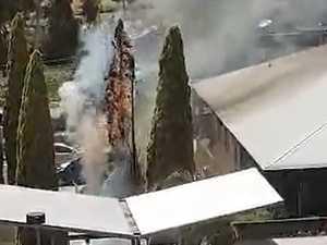 VIDEO: Fire prompts Toowoomba hospital evacuation