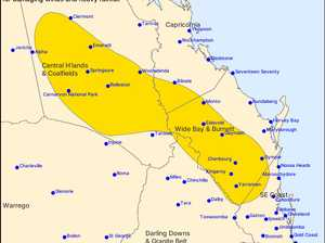 Severe weather warning issued for Burnett