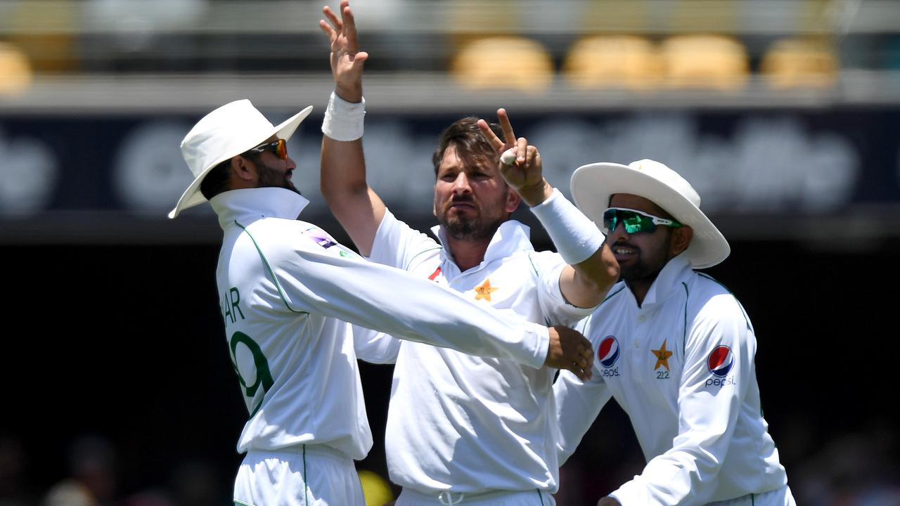 Yasir Shah let Steve Smith know how many times he'd dismissed him as Smith left the Gabba field.