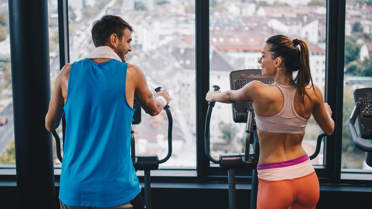 Experts say if you're using the same towel to wipe your face after using it in the gym, you put yourself at risk of developing bacterial breakouts or fungal infections. Picture: iStock