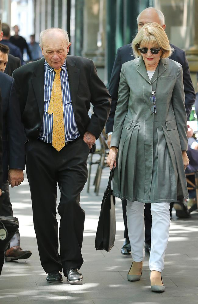 Mr Harvey and Ms Page arriving at Doltone House for the annual general meeting. Picture: Richard Dobson
