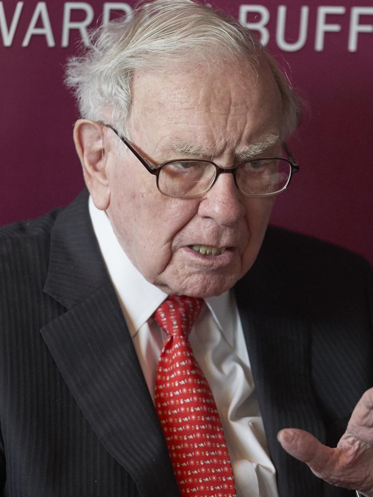 Chairman and CEO of Berkshire Hathaway, Warren Buffett. Picture: AP