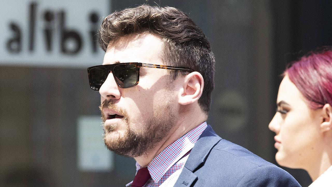 Lawyer Corey Cullen, who dropped a bag of cocaine outside a court, has pleaded guilty to possessing dangerous drugs, saying he had had a big night before.