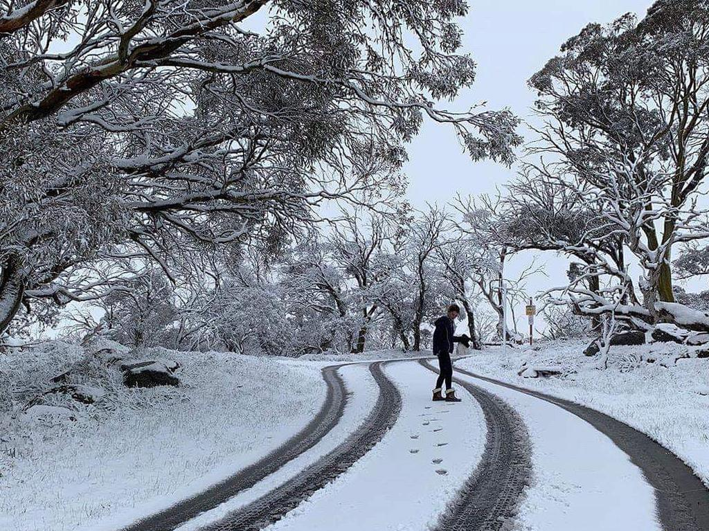 There was snow in some parts of the state. Picture: Valhalla Perisher