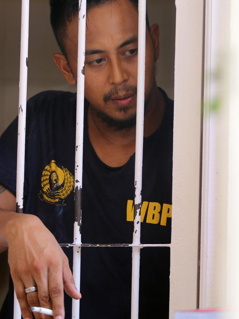 William Cabantog waits inside a cell at Denpasar District Court. Picture: Lukman S.Bintoro