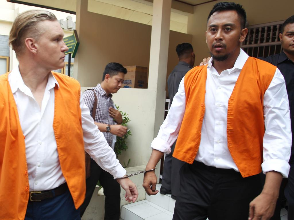 David Van Iersel and William Cabantog at Denpasar District Court. Picture: Lukman S. Bintoro