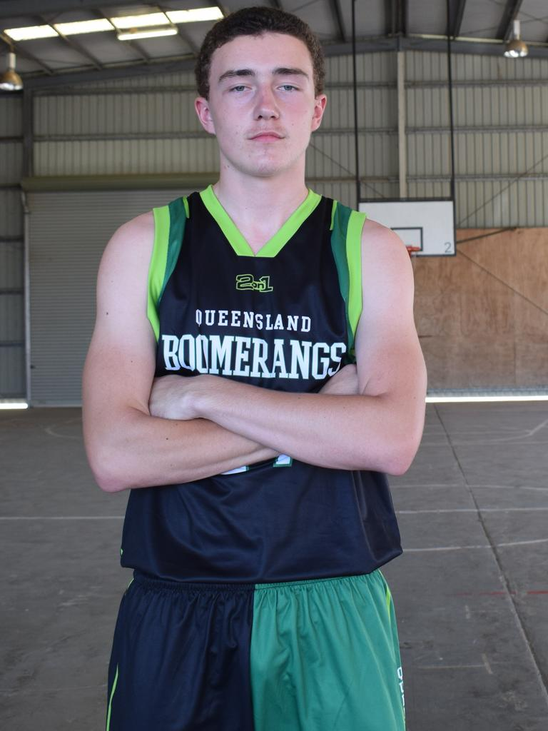 Gympie basketball - Brandon Albrecht, 15 playing for the Queensland Boomerangs. Photo: Bec Singh