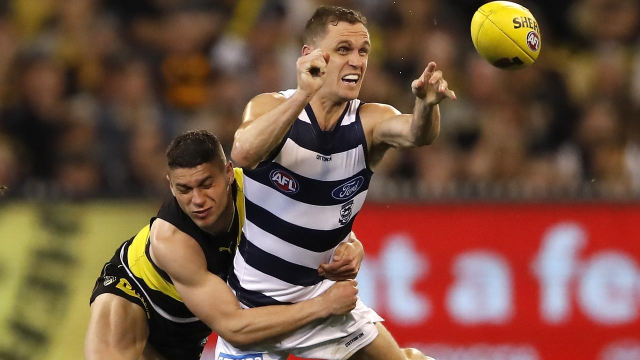 Geelong skipper Joel Selwood backs the move to shorten the halftime break. Picture: Getty Images
