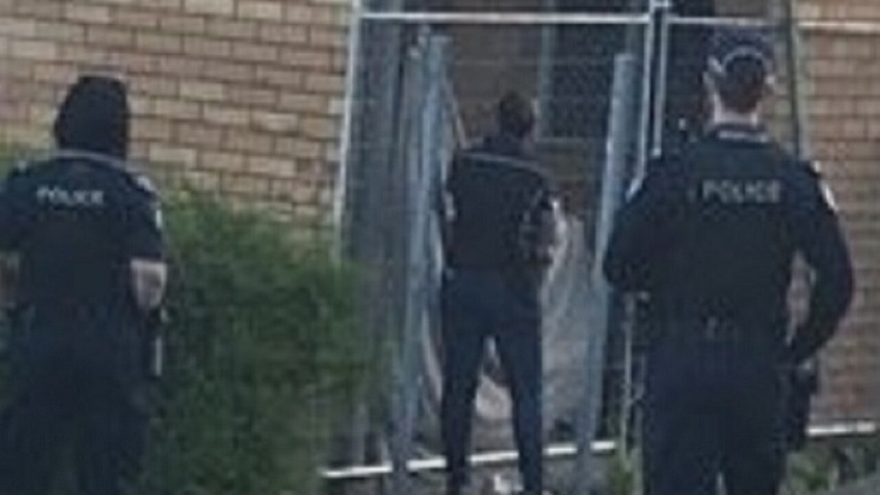 SIEGE: Gympie police on scene of a siege in Lawrence St earlier this year.